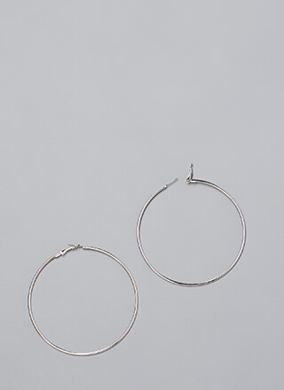 Essential Skinny Hoop Earrings