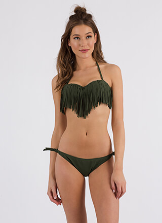 Festival Favorite Fringed Bikini Set