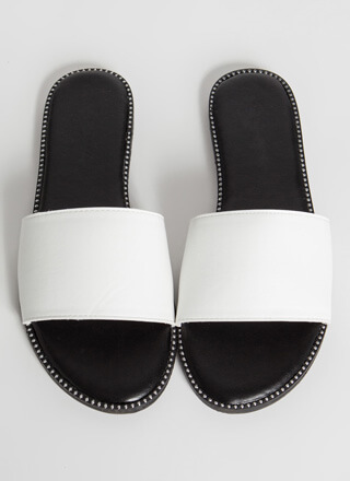 Perimeter Shot Studded Slide Sandals