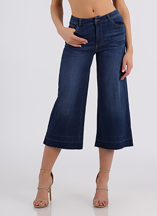 Whole Wide World Cropped Flared Jeans