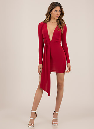 Keep The Piece Plunging Minidress