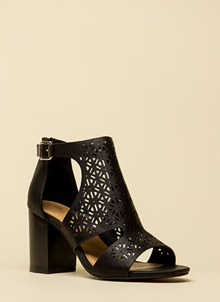 Crochet Everything Chunky Latticed Heels