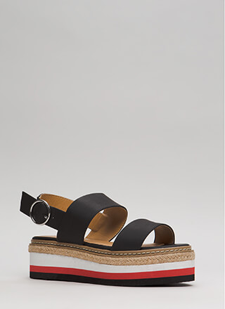 Elevation Faux Leather Platform Sandals