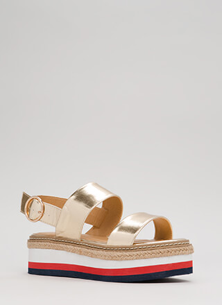 Elevation Metallic Platform Sandals