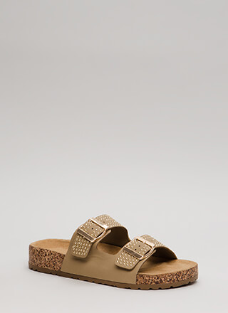 Such A Stud Platform Slide Sandals