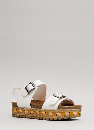 Going Abroad Chunky Platform Sandals