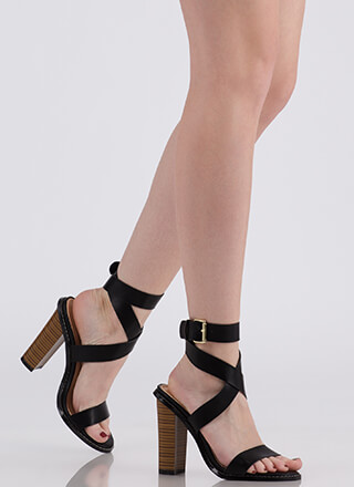 Wrapped In Love Chunky Strappy Heels