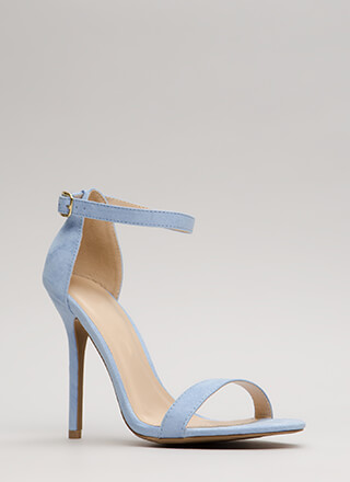 Simplicity At Its Best Ankle Strap Heels