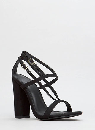 Intersection Strappy Caged Chunky Heels