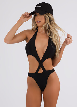 Shoutout To My X Cut-Out Monokini