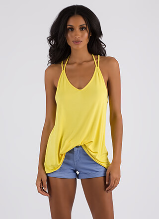 Strappy Returns Caged-Back Tank Top