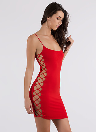 All My X's Strappy Cut-Out Minidress