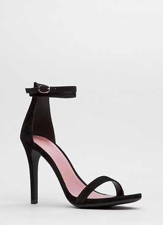 Double Your Pleasure Ankle Strap Heels