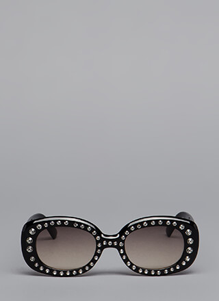 Sparkly Personality Jeweled Sunglasses