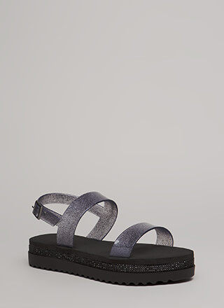 Sparkle All Day Platform Jelly Sandals