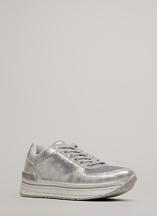 Feeling Sparks Sequin Platform Sneakers