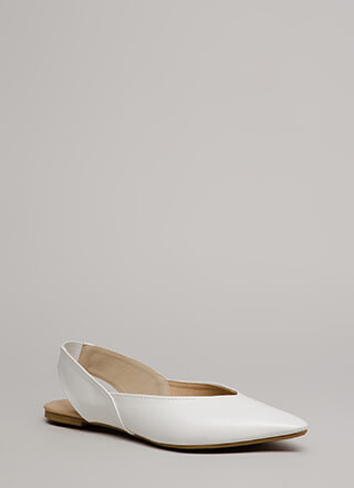 Ready Or Not Pointy Slingback Flats