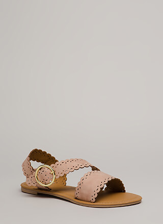 Adored By All Scalloped Sandals