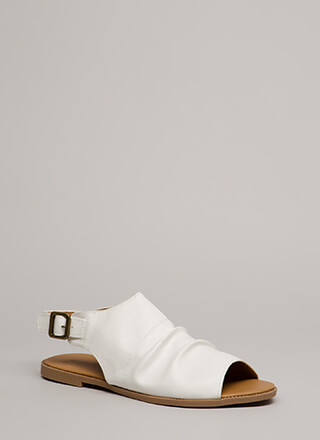 Day After Day Slouchy Peep-Toe Sandals