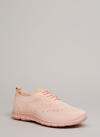 Nice Day Out Textured Knit Sneakers