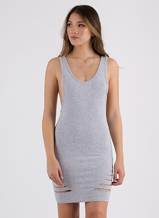 I Need To Vent Slit Muscle Tank Dress