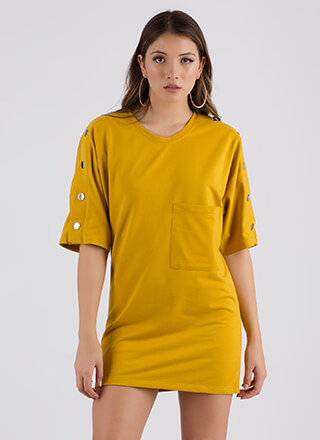 Oh Snap Oversized T-Shirt Dress
