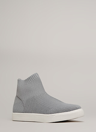 Knit's A Hit High-Top Platform Sneakers