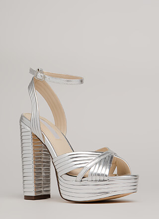 Stack The Deck Chunky Strappy Platforms