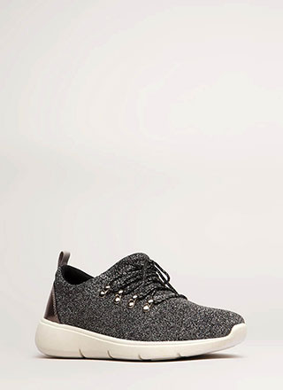 Starry Night Glittery Platform Sneakers
