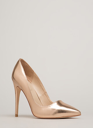 Point Blank Range Metallic Pumps