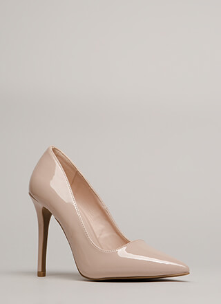 All Signs Point To Faux Patent Pumps