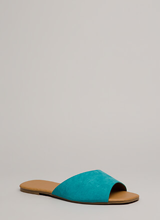 Learning Curve Faux Suede Slide Sandals