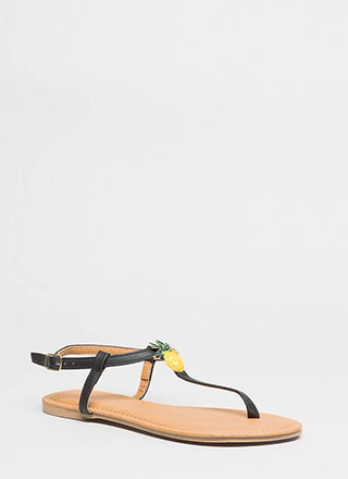 Palms And Pineapples T-Strap Sandals