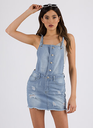 Jumper Joy Destroyed Denim Skirtalls