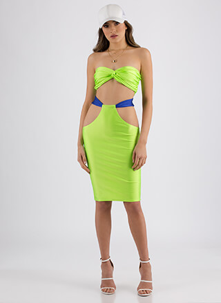 Pool Party Cut-Out Bandeau And Skirt Set