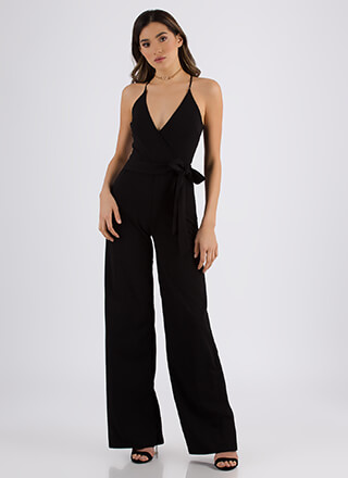 Wrapped Up In You Wide-Leg Jumpsuit