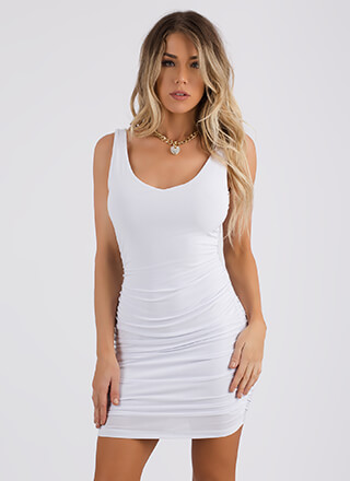 Tanks For Everything Ruched Minidress