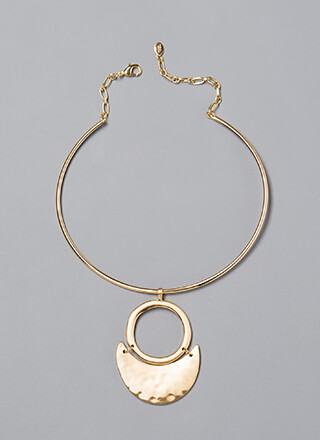Ring True Hammered Plate Necklace