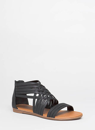 Seeing Is Be-Weaving Strappy Sandals