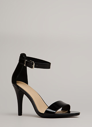 Walk To Remember Faux Patent Heels