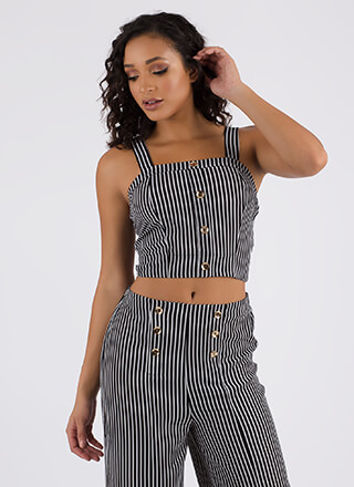 Hot Button Issue Striped Tank Top