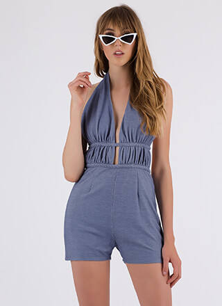 Ready For Vacay Braided Halter Romper