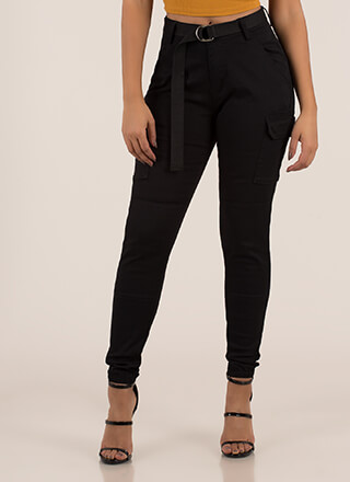 Keep Your Cool Belted Cargo Joggers