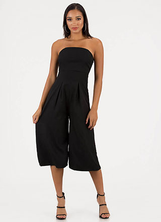 Crop The Subject Strapless Jumpsuit