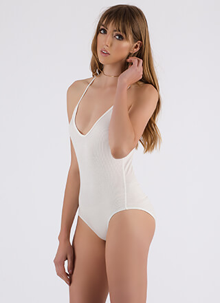 Put A Ring On It Strappy Back Bodysuit