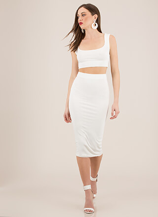 You've Met Your Match Top And Skirt Set