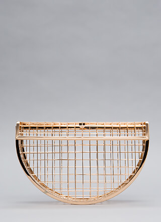 Grid To See You Caged Clutch