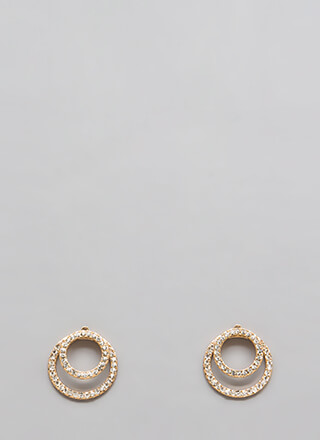 The Rings Jeweled Jacket Earrings