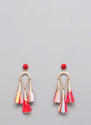 It Comes In Three Tissue Tassel Earrings