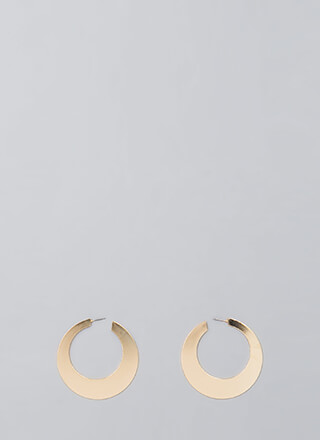 Flat Out Amazing Hoop Earrings